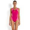 speedo SpeedoFit Splice Muscleback Women Magenta/Fluo Pink/Fluo Orange